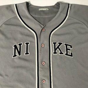 80 off nike other nike gray baseball jersey shirt men size 2xl nike shirts nike gray baseball jersey shirt men size 2xl xxl malvernweather Image collections